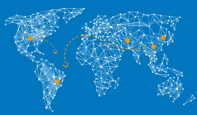 Mapa da logistica de importacao de componentes eletronicos
